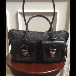 Dooney and Bourke double pocket signature satchel